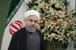 President Rouhani officially welcomes Azerbaijani counterpart