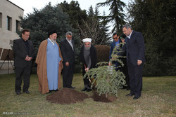 Pres. Rouhani plants sapling on Natl. Arbor Day