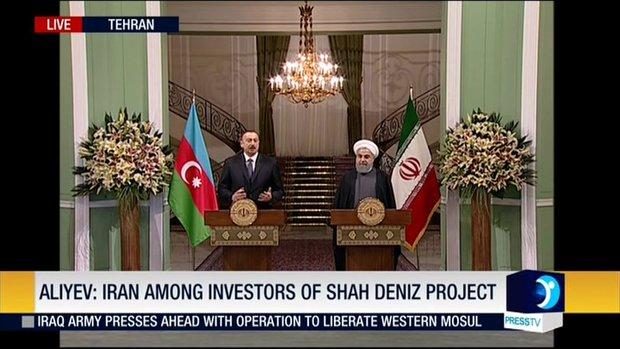 Rouhani, Aliyev presser in Tehran