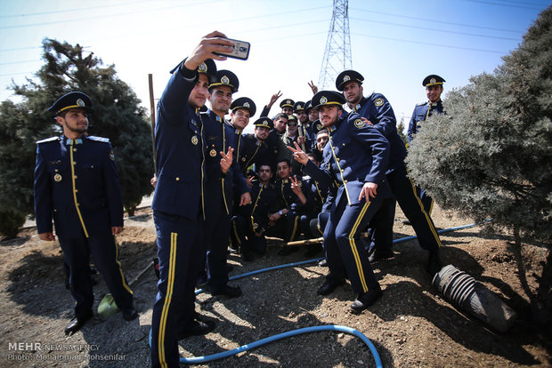 Sapling planting for solidarity with 230 martyred pilots