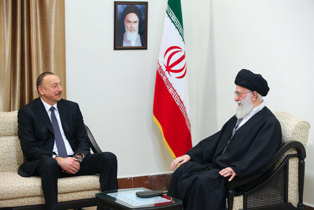 The President of Azerbaijan met with Ayatollah Khamenei