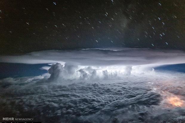 تصاویری زیبا از رعد و برق و ابرهای باران زا