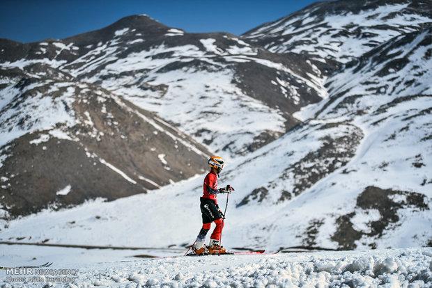İran'da kayak yarışları