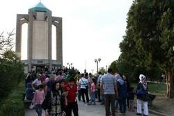 حضور مسافران نوروزی در مناطق گردشگری همدان