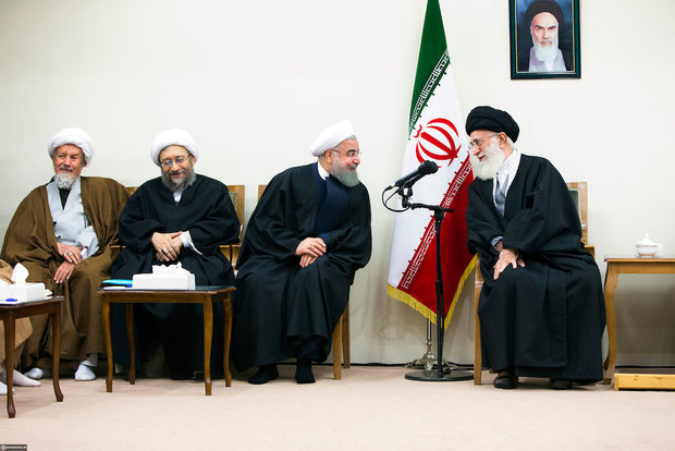 The head and memebrs of the Assembly of Experts met with Ayatollah Khamenei