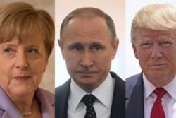 ترامپ پوتین مرکل