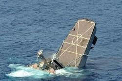 انهدام قایق جنگی عربستان