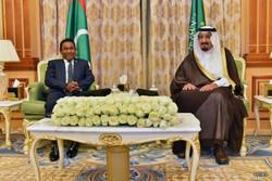 ملک سلمان و عبدالله یمین-رئیس جمهور مالدیو