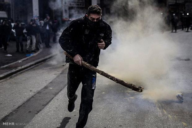 تظاهرات کشاورزان یونانی در آتن