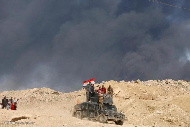 """تدمير وحرق معسكر لـ""""داعش"""" جنوب شرق الرطبة"""