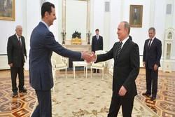 پوتین بشار اسد