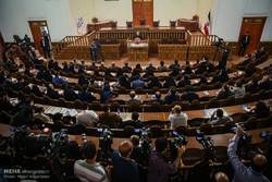 İran Meclis Başkanı'nın basın toplantısı
