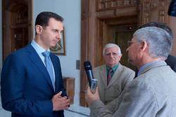 الأسد: ايران تدعم سوريا في محاربة الإرهاب بينما الغرب مساهم في دمار سوريا