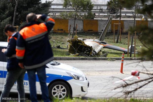 سقوط هلیکوپتر در استانبول