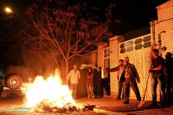 آیین چهارشنبه سوری در شهرستان میانه