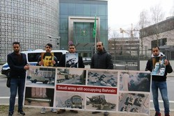 Almanya'daki Bahreynlilerden Suudi protestosu