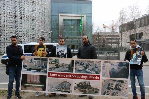 وقفه استنكارية أمام سفارة آل سعود في برلين