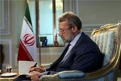 نامه علی لاریجانی به روحانی