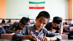 refugee children at a classroom in Iran