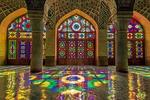 مسجد صورتی زیباترین مسجد تاریخی ایران/ بازی جلوه ها و رنگ ها