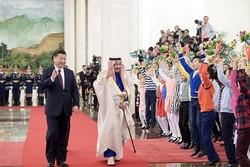 سلمان بن عبدالعزیز، پادشاه عربستان و شی جین پینگ رئیس جمهوری چین