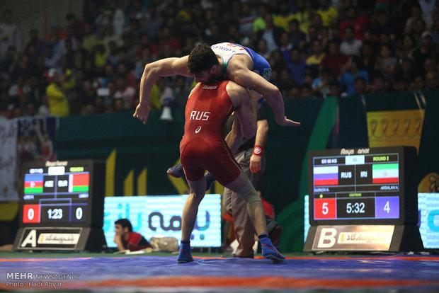 Greco-Roman Wrestling World Cup in Abadan; Iran 3-5 Russia