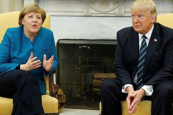 توضیح کاخ سفید درباره امتناع ترامپ از دست دادن با مرکل