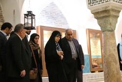 بازدید رئیس سازمان میراث فرهنگی از حمام گپ - کراپشده