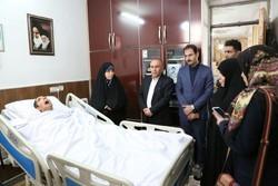 معاون رئیس جمهور از شهید زنده لرستانی سرکشی کرد