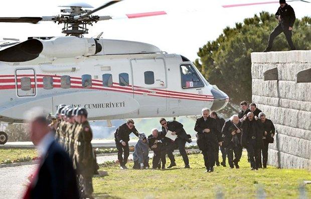 Erdoğan'ın helikopteri Kurtulmuş'a zor anlar yaşattı