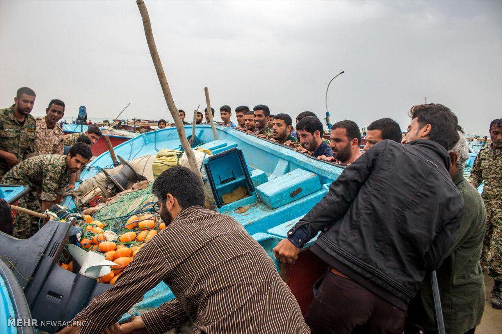 طغیان دریا در جنوب استان بوشهر