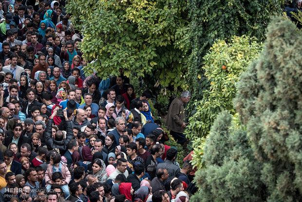 لحظه تحویل سال نو در حافظیه شیراز