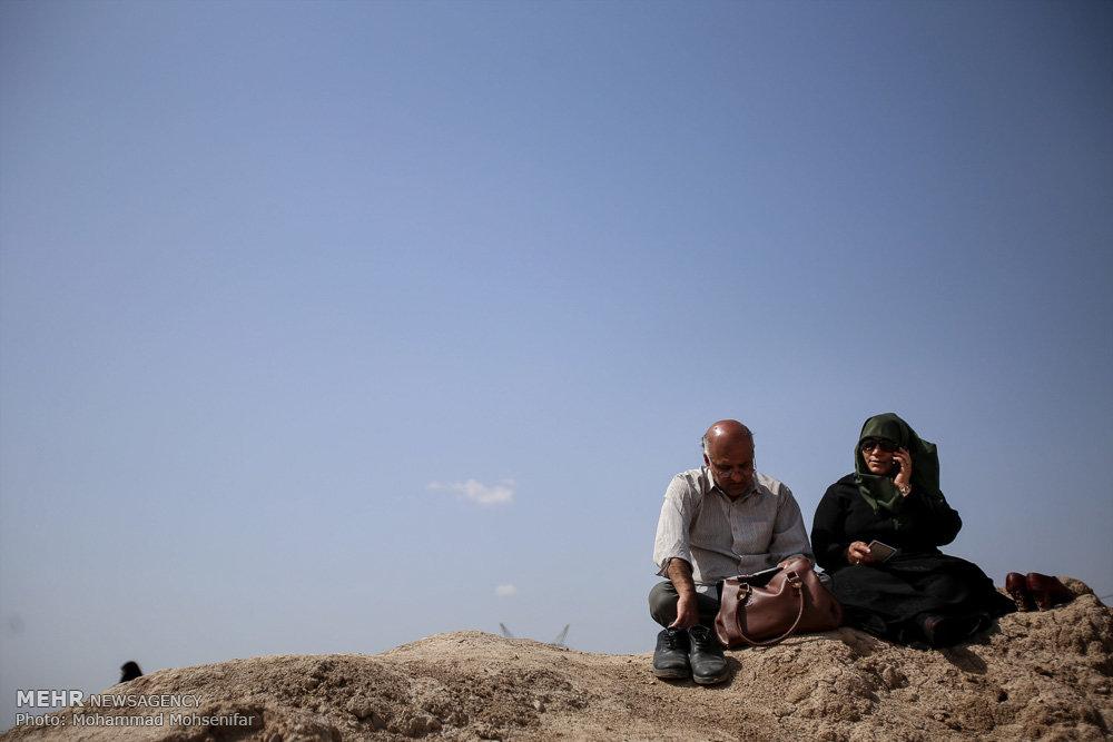 مسافران نوروزی در شلمچه,راهیان نور,سفر به مناطق جنگی دفاع مقدس