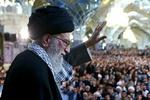 قائد الثورة يلقي خطابا في مشهد الامام الرضا