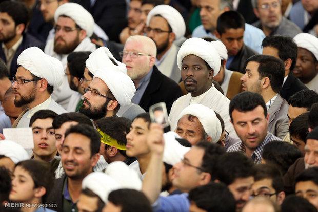 leader speech at holy shrine of Imam Reza (AS)