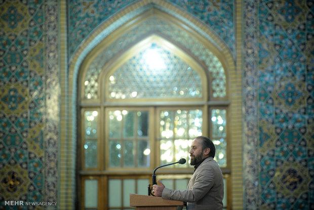 İnkılap Rehberi'nin İmam Rıza (a) Türbesi'ndeki konuşması