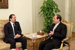 «سعد حریری» با رئیس جمهور مصر دیدار کرد