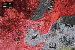 بالخريطة/ آخر تطورات هجوم جوبر والقابون
