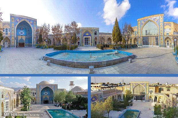 مدرسه تاریخی سپهداری از اولین بناهای شهر اراک با سبک معماری صفوی