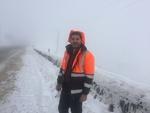 توقف بارش برف در محور هراز/ وضعیت جاده برای تردد مطلوب است