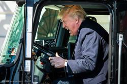 کامیون سواری ترامپ