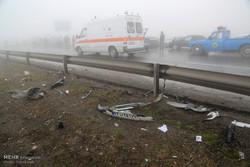 تصادف در اتوبان کرج ۱۰ مصدوم و یک کشته برجا گذاشت