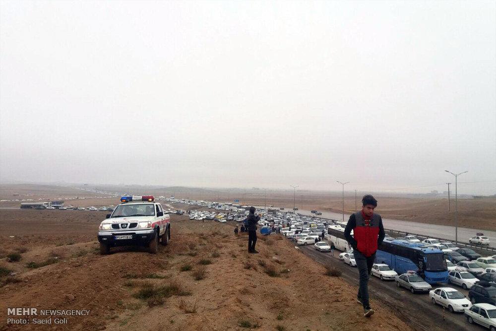 آخرین وضعیت ترافیکی راه های استان یزد