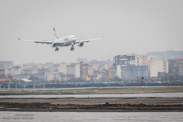 3rd Airbus lands at Mehrabad Airport