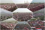 تجمع گسترده مردم یمن به مناسبت دو سال «مقاومت» در برابر سعودی ها