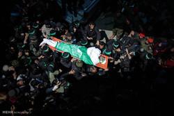 تشییع جنازه فرمانده ترور شده حماس