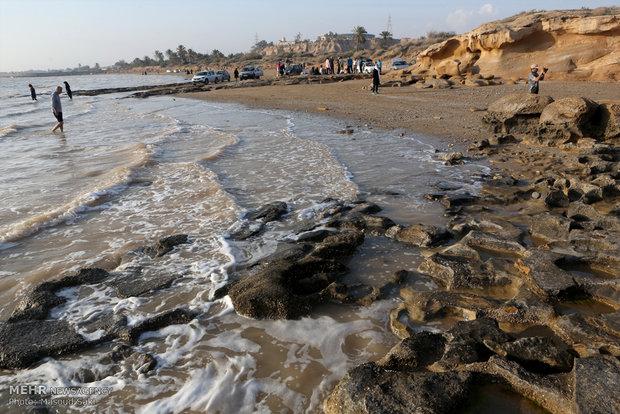 ساحل صخره ای بندر امام حسن (ع)