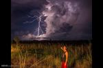 فلوریڈا میں آسمانی بجلی گرنے سے آگ لگ گئی