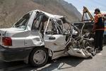 تصادف دلخراش در مسیر شوشتر/پراید زیر چرخ های کامیون له شد