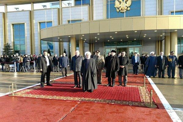 روحانی وارد موسکو شد